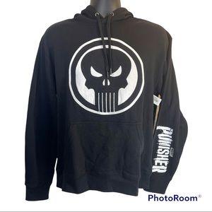 🆕 Marvel The Punisher Black Hoodie Adult Size Medium